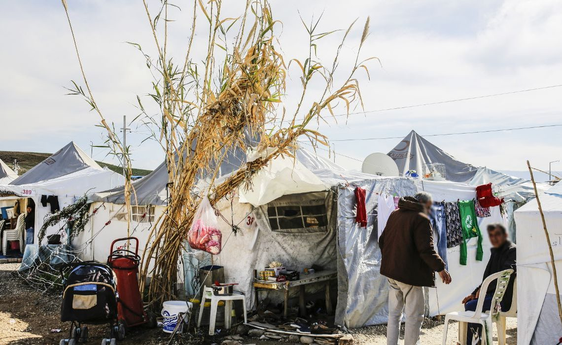 General view of the Osmaniye Cevdetiye Camp, in Turkey on 10th of February, 2016 during a visit by the BUG - Committee on Budgets Delegation of the European Parliament.