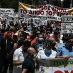 Χιλιάδες κόσμου στις συγκεντρώσεις κατά του εργασιακού νομοσχεδίου